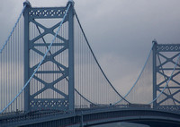 The Ben Franklin Bridge over the Delaware River
