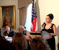 Brigitte speaking at the National Security Patriot Award Congressional Luncheon