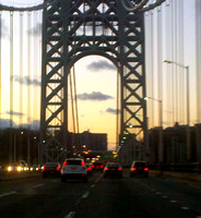 Sunset from the George Washington Bridge, New York