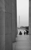 Washington Monument from Lincoln Memorial, DC