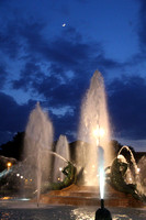 Swann Fountain at night