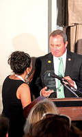 Brigitte presenting Jeff Duncan (R SC) with his National Security Patriot Award